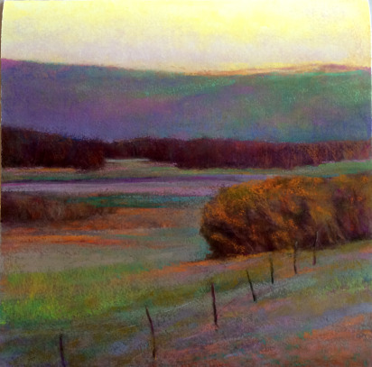 """""""View to Queen Hill"""" by Ken Elliott, Giclee on Paper, 28"""" x 28"""""""
