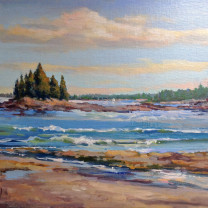 SEAL HARBOR-OIL 9X12 FRAMED